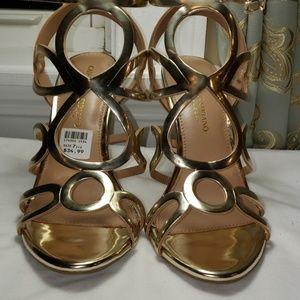 Christian Siriano 7.5 Gold Heels